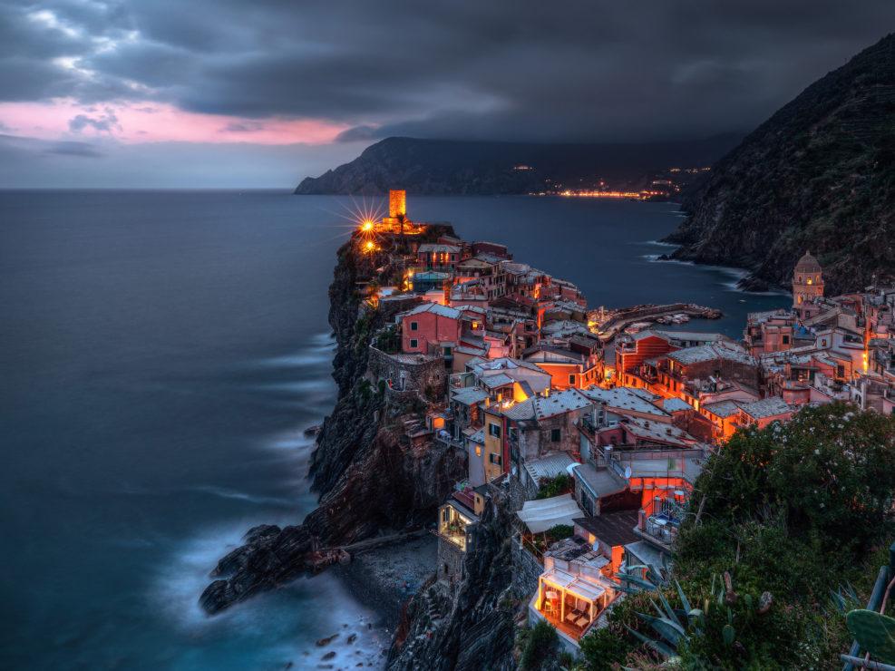 Light of Evening on Vernazza