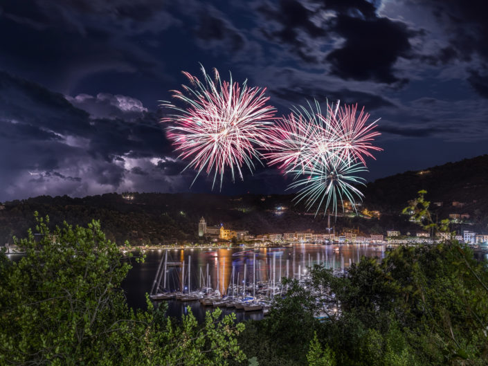 Fireworks and Lightning at Le Grazie
