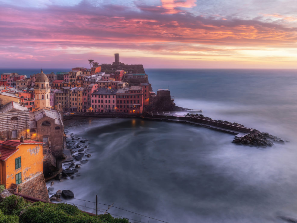 Vision at sunset on Vernazza