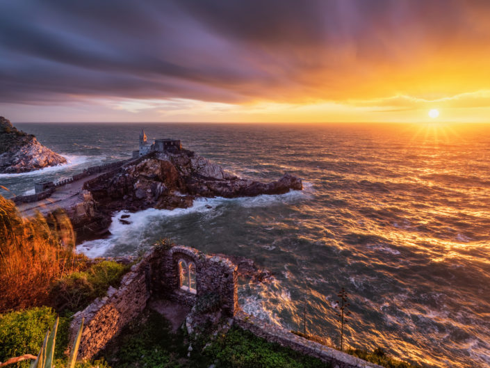 Storm at Sunset in Portovenere