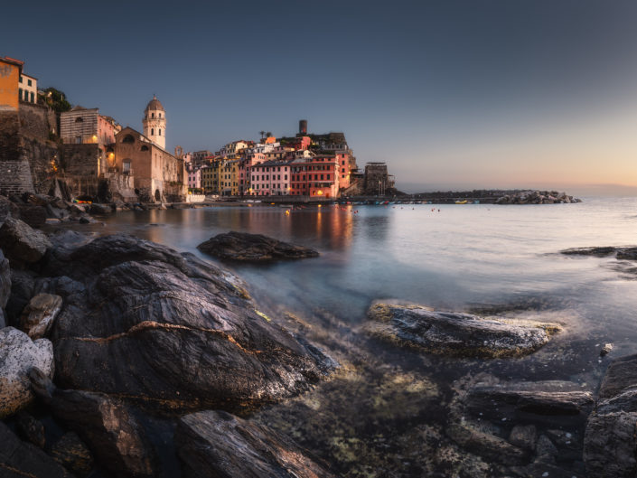 In the evening in Vernazza