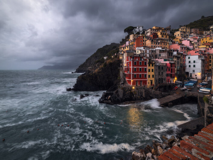 Cloudy evening in Riomaggiore